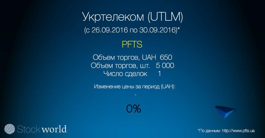UTLM ПФТС Укртелеком 30.09.16